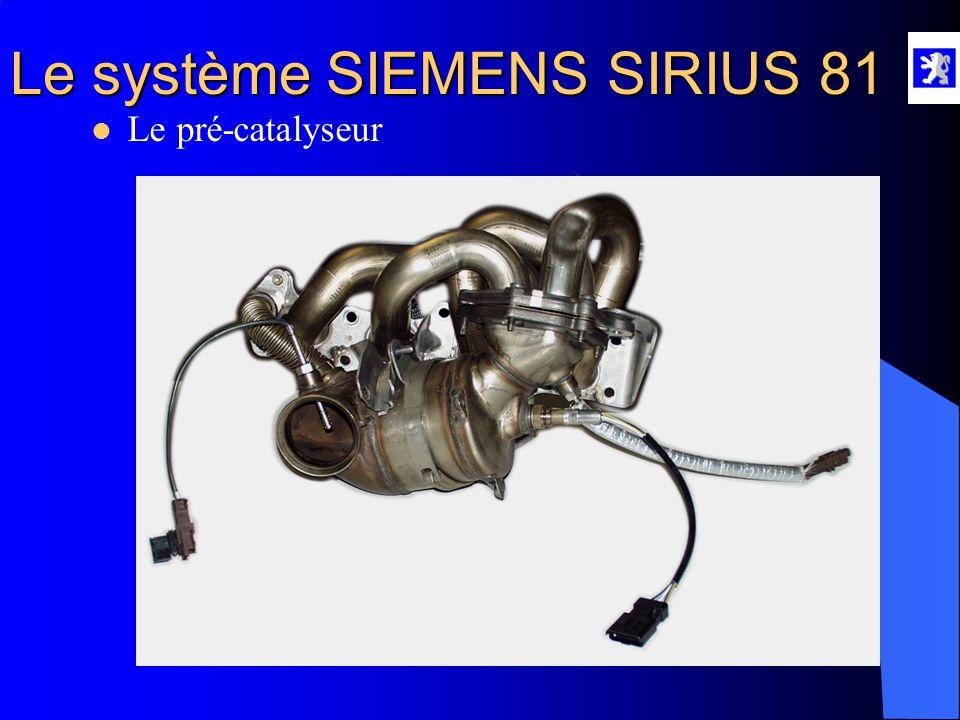 Le système SIEMENS SIRIUS 81  La sonde à oxygène ON/OFF A l'aide du diag 2000 : - Menu mesures paramètres : richesse et adaptation A l'aide du Multim