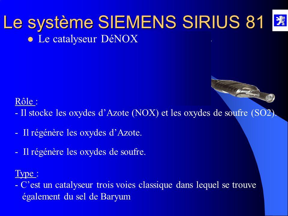 Le système SIEMENS SIRIUS 81  Le pré-catalyseur