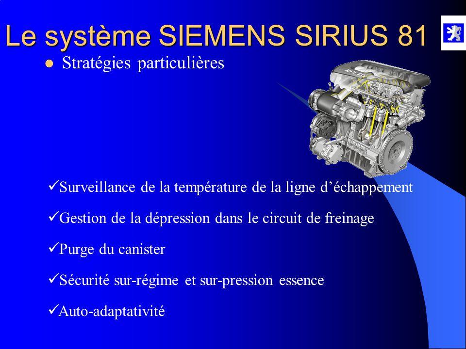 Le système SIEMENS SIRIUS 81 Particularités :  Le catalyseur DéNOX  Le stockage des oxydes de soufre se fait à T = 200 à 500 °C  Le déstockage des