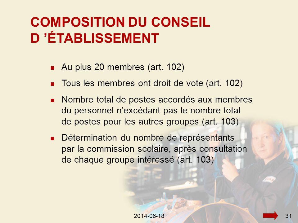 2014-06-18332014-06-1831  Au plus 20 membres (art.