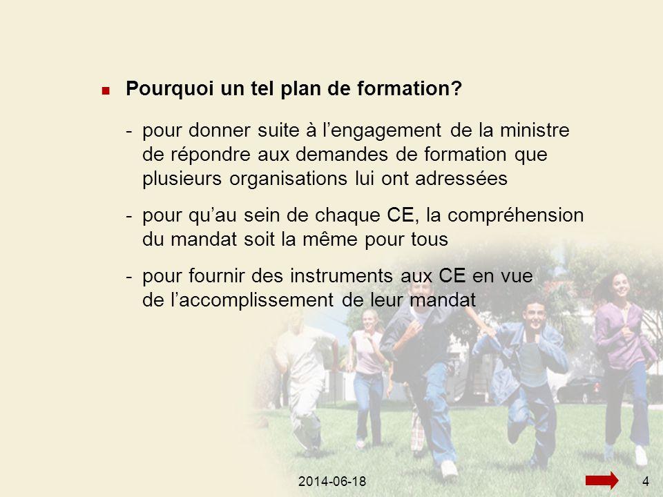 2014-06-184  Pourquoi un tel plan de formation.