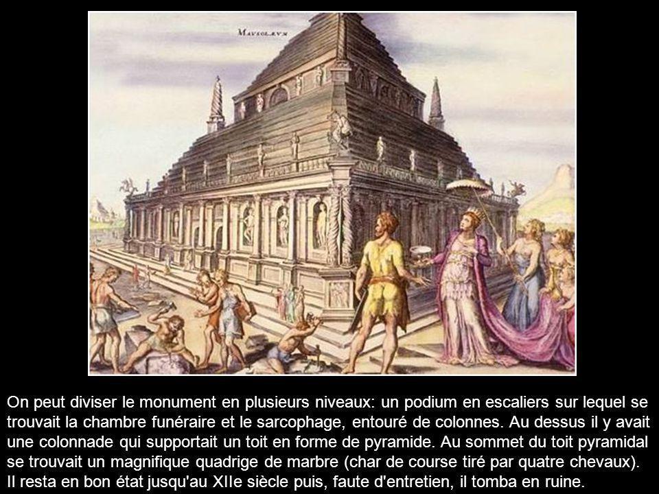Le Mausolée d'Halicarnasse est le tombeau du roi Mausole (mort en 353 av. J.-C.).Ce tombeau monumental était situé au sud-ouest de la Turquie dans la