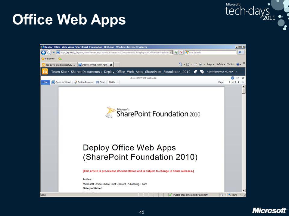 45 Office Web Apps