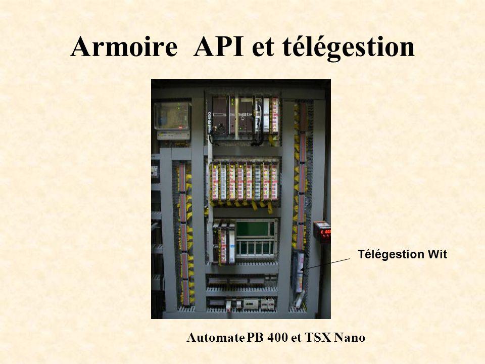 Armoire API et télégestion Automate PB 400 et TSX Nano Télégestion Wit