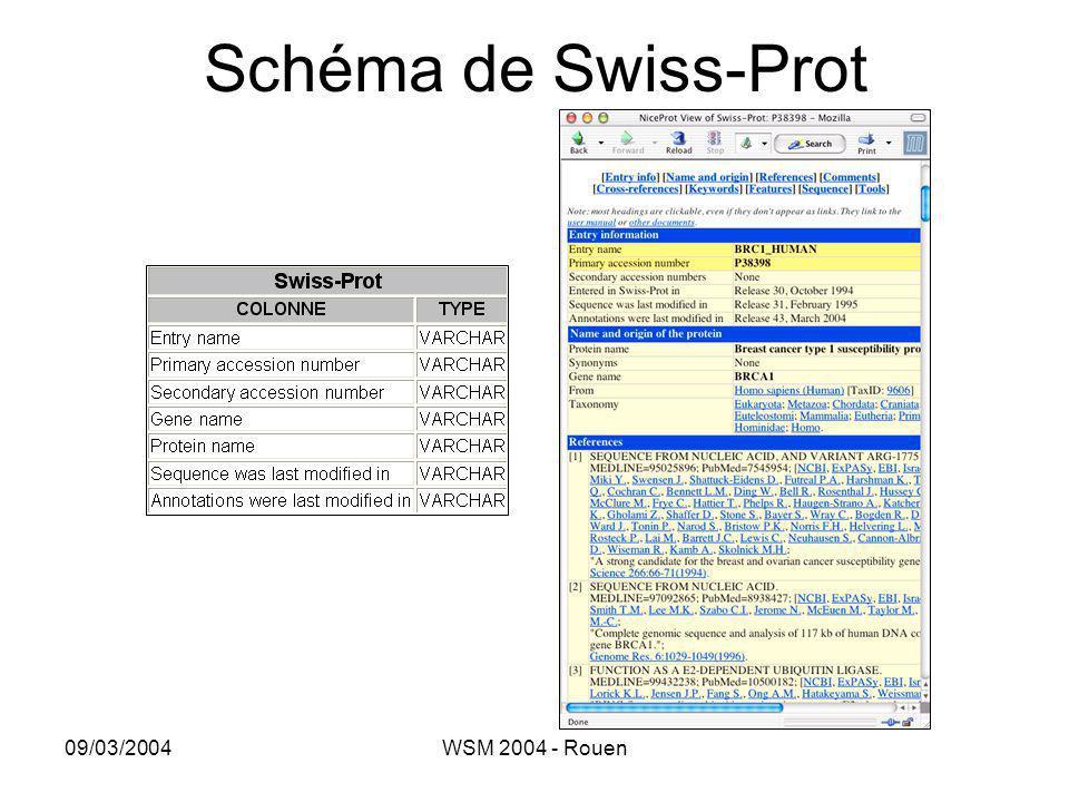 09/03/2004WSM 2004 - Rouen Schéma de Swiss-Prot