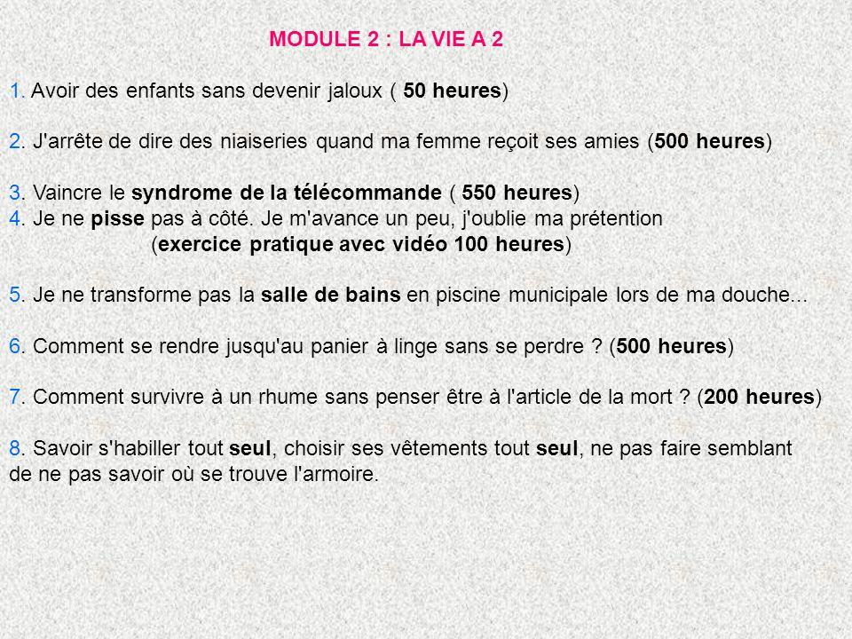 MODULE 3 : DETENTE ET LOISIRS 1.
