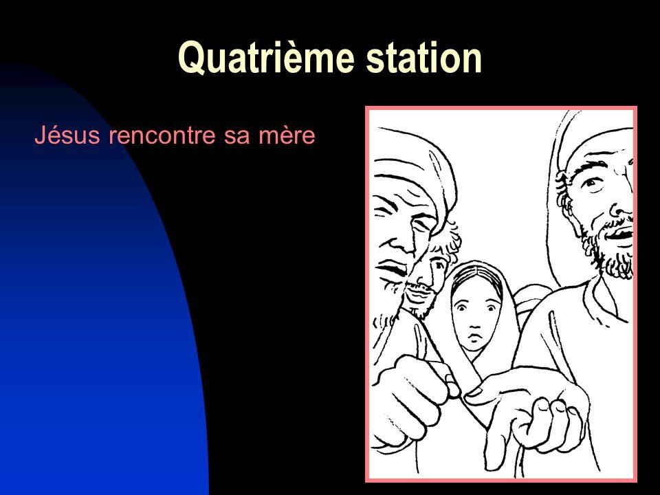 11 Jésus rencontre sa mère Quatrième station