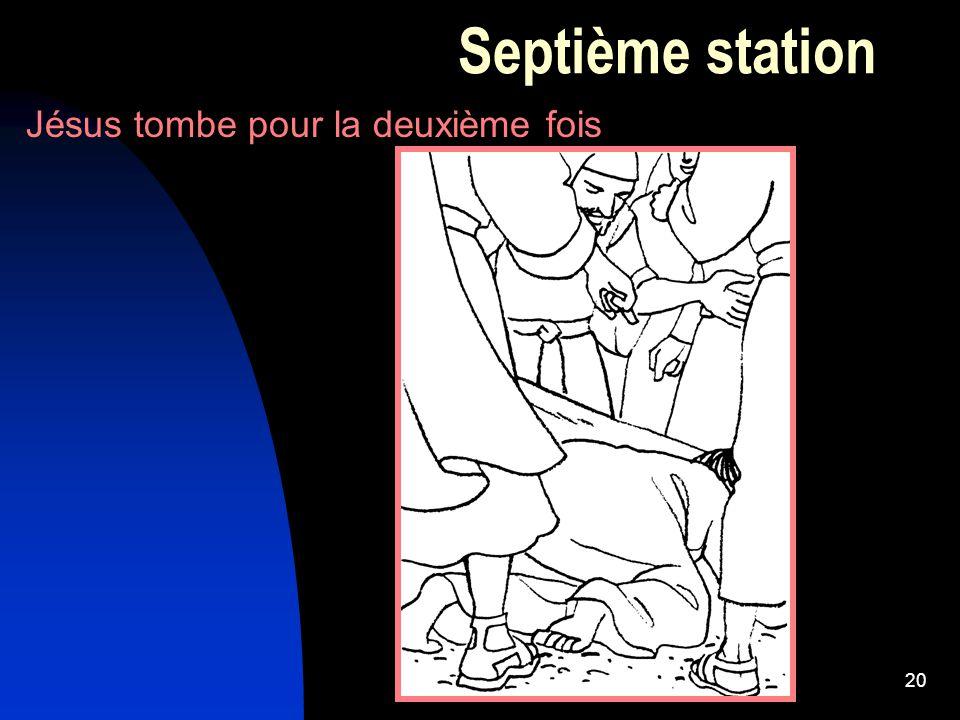 20 Septième station Jésus tombe pour la deuxième fois