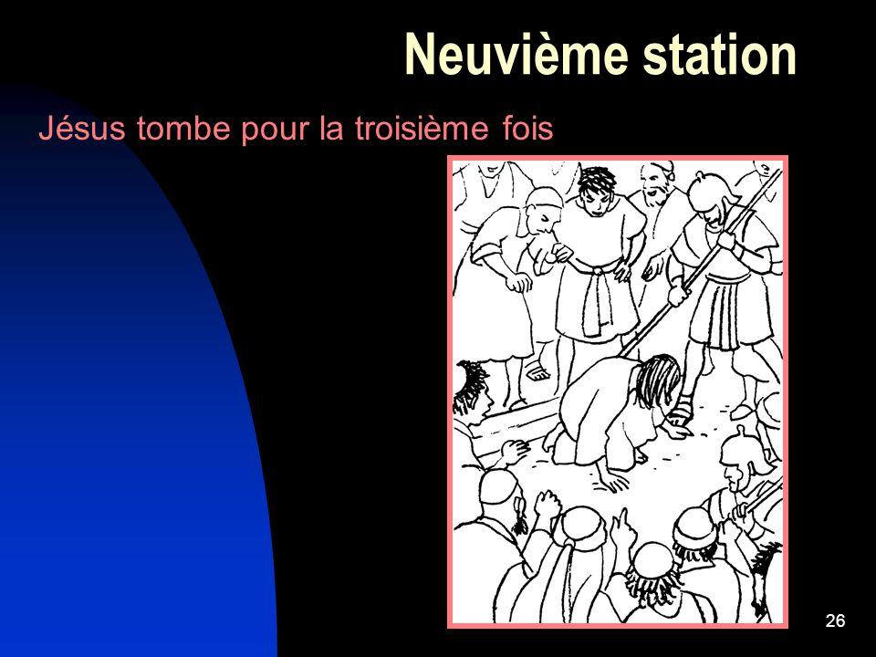 26 Neuvième station Jésus tombe pour la troisième fois