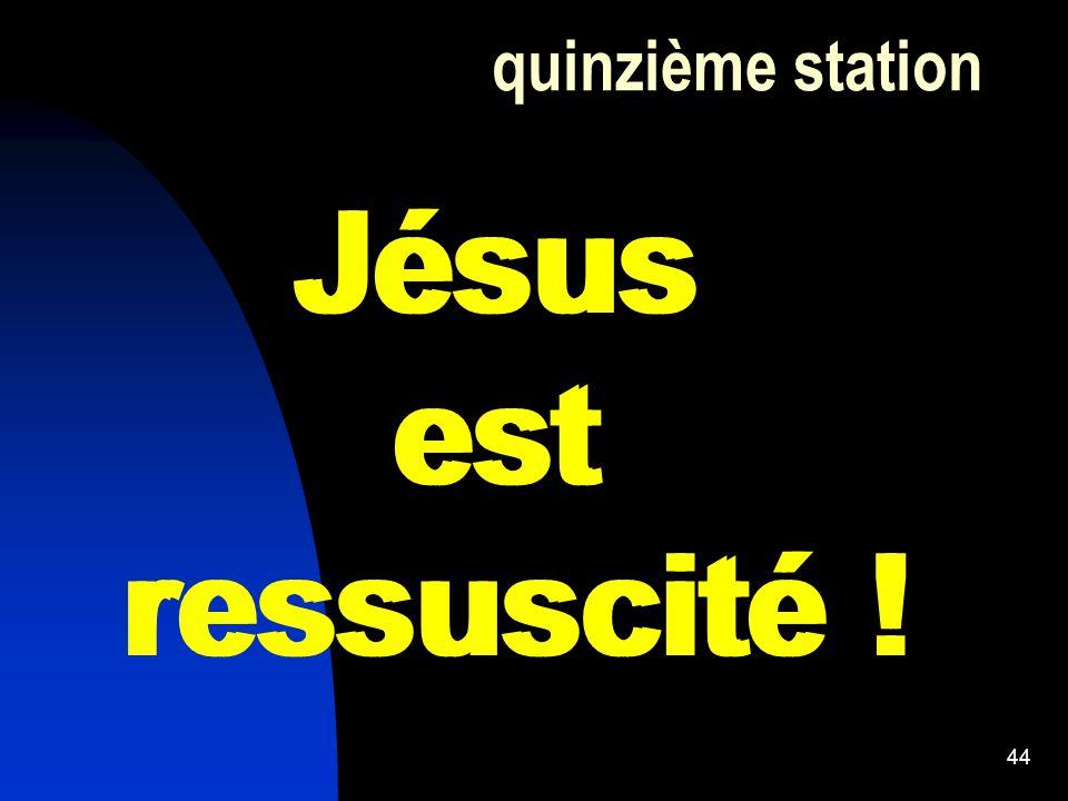 44 quinzième station Jésus est ressuscité ! Jésus est ressuscité !