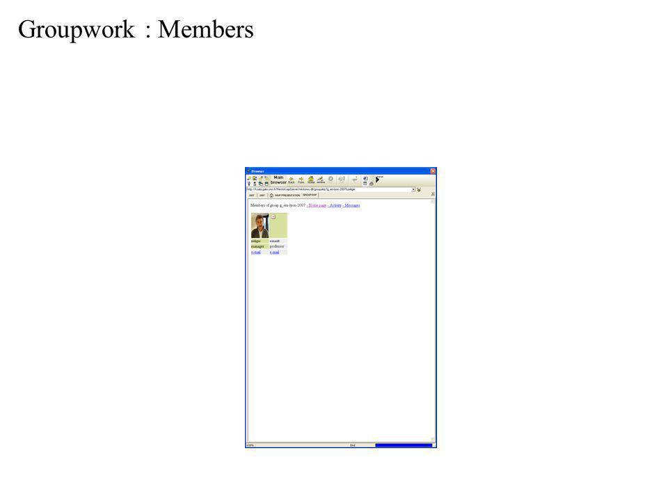 Groupwork : Members