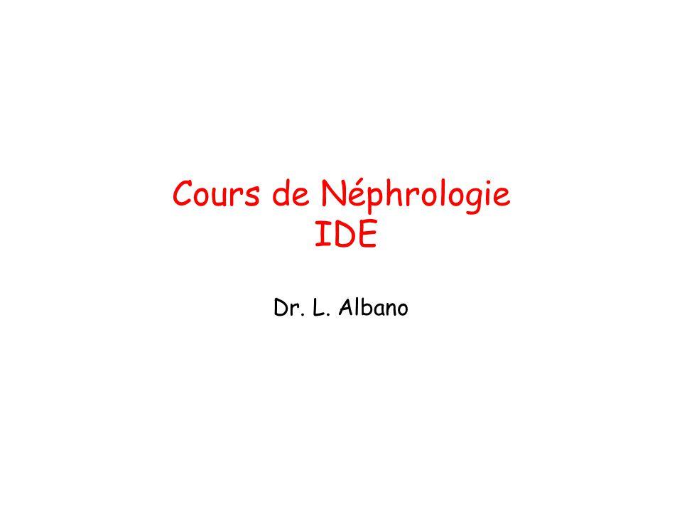 Cours de Néphrologie IDE Dr. L. Albano