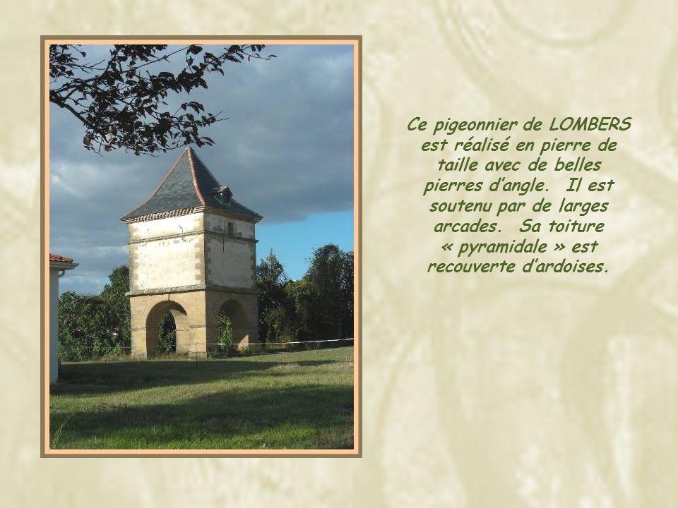 Situé dans un jardin à proximité de la maison de retraite de MONTDRAGON, ce pigeonnier est construit en belles pierres taillées de couleur ocre.