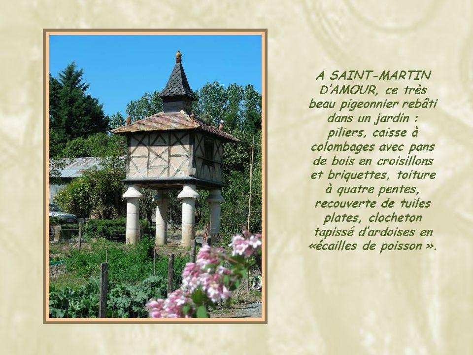 A SAURS, ces deux pigeonniers de type « Pied de Mulet », l'un sur huit piliers et l'autre sur arcades.