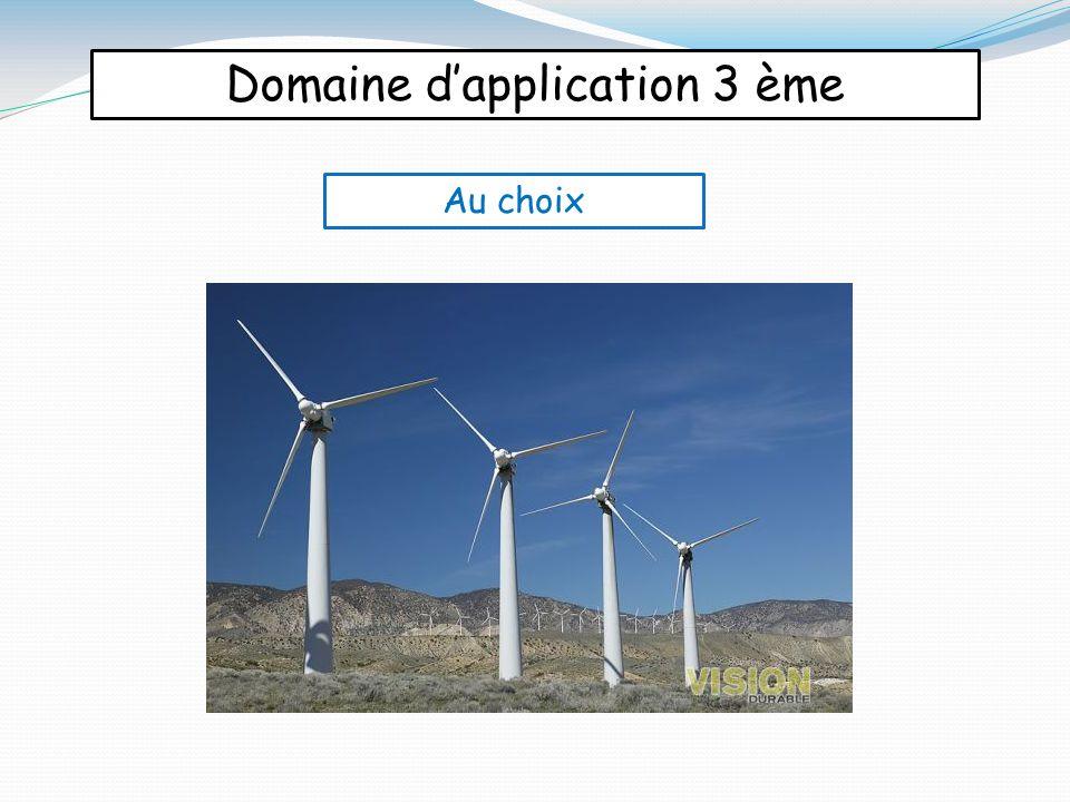 Domaine d'application 3 ème Au choix