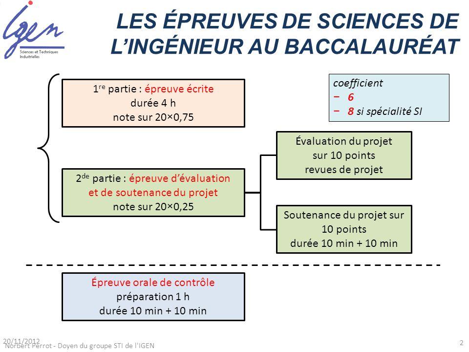 1 re partie : épreuve écrite durée 4 h note sur 20 × 0,75 2 de partie : épreuve d'évaluation et de soutenance du projet note sur 20 × 0,25 Évaluation