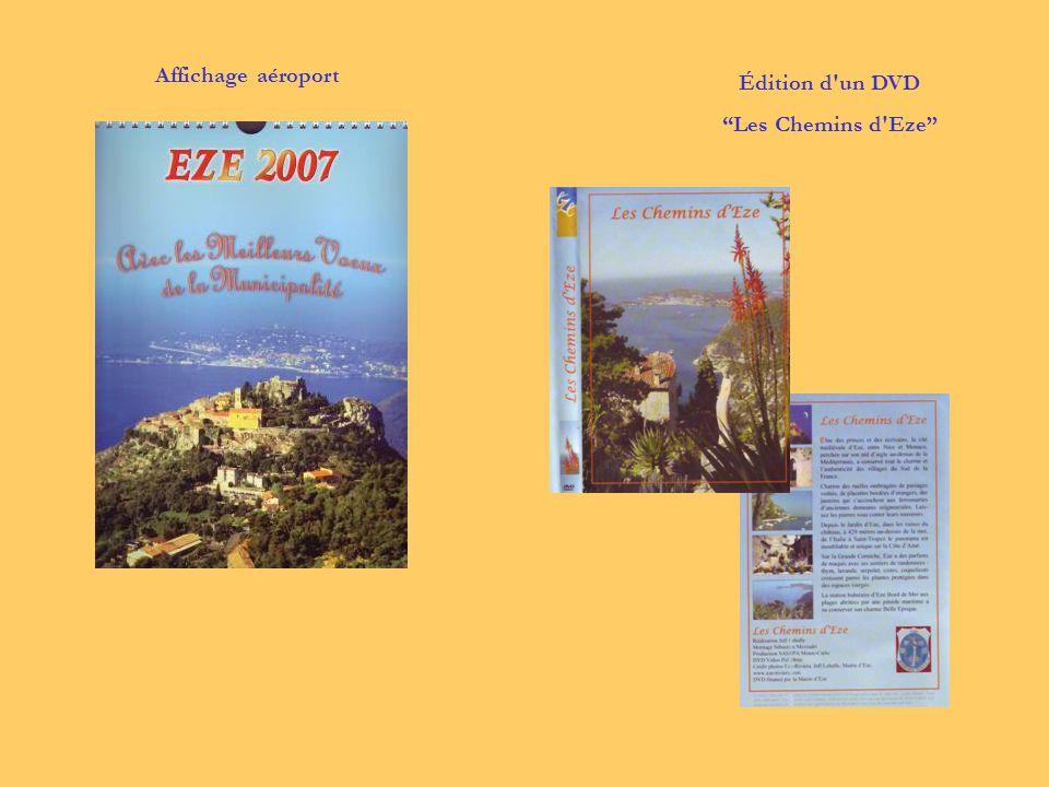 """Affichage aéroport Édition d'un DVD """"Les Chemins d'Eze"""""""