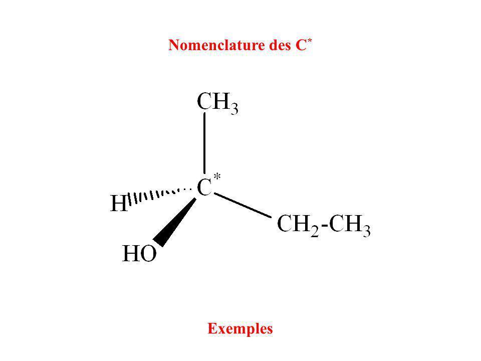 Nomenclature des C * Exemples