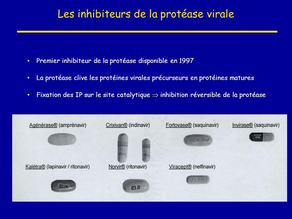 Les inhibiteurs de la protéase virale • Premier inhibiteur de la protéase disponible en 1997 • La protéase clive les protéines virales précurseurs en
