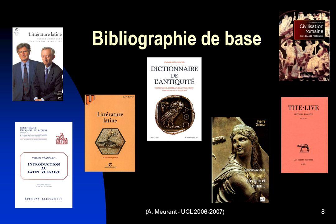 (A. Meurant - UCL 2006-2007)8 Bibliographie de base