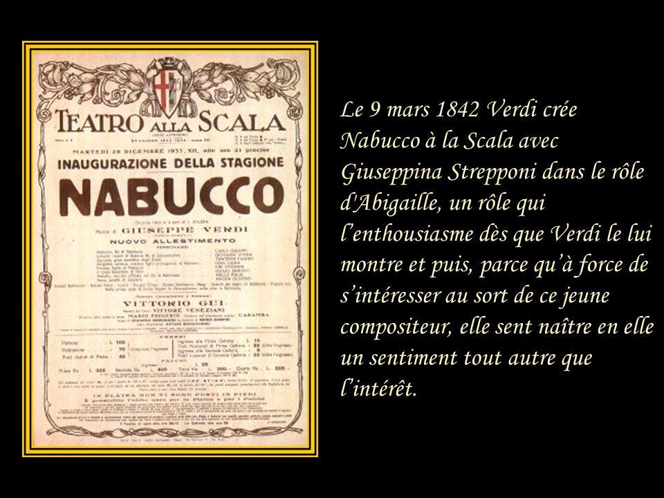 A cette époque, Verdi était marié à Margherita Barezzi, avec laquelle il avait eu deux enfants. Mais la mort s'abattit sur la petite famille et lorsqu