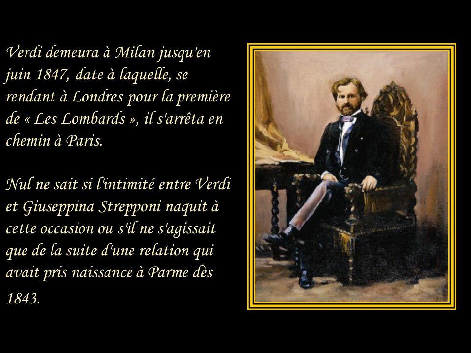 Le déclin progressif de sa voix poussa Giuseppina à abandonner la scène en 1846, et elle quitta l'Italie pour Paris.