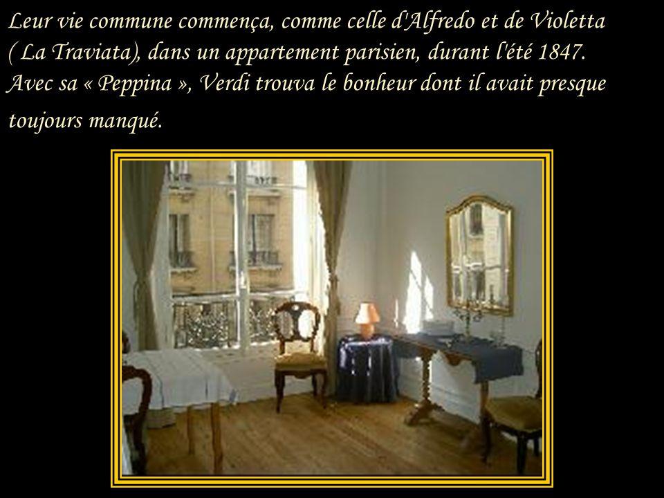 « De façon analogue, Verdi entrevoit chez Giuseppina la réalisation de sa musique et le couronnement des valeurs de loyauté et de simplicité en lesque