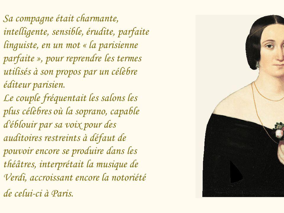 Leur vie commune commença, comme celle d'Alfredo et de Violetta ( La Traviata), dans un appartement parisien, durant l'été 1847. Avec sa « Peppina »,