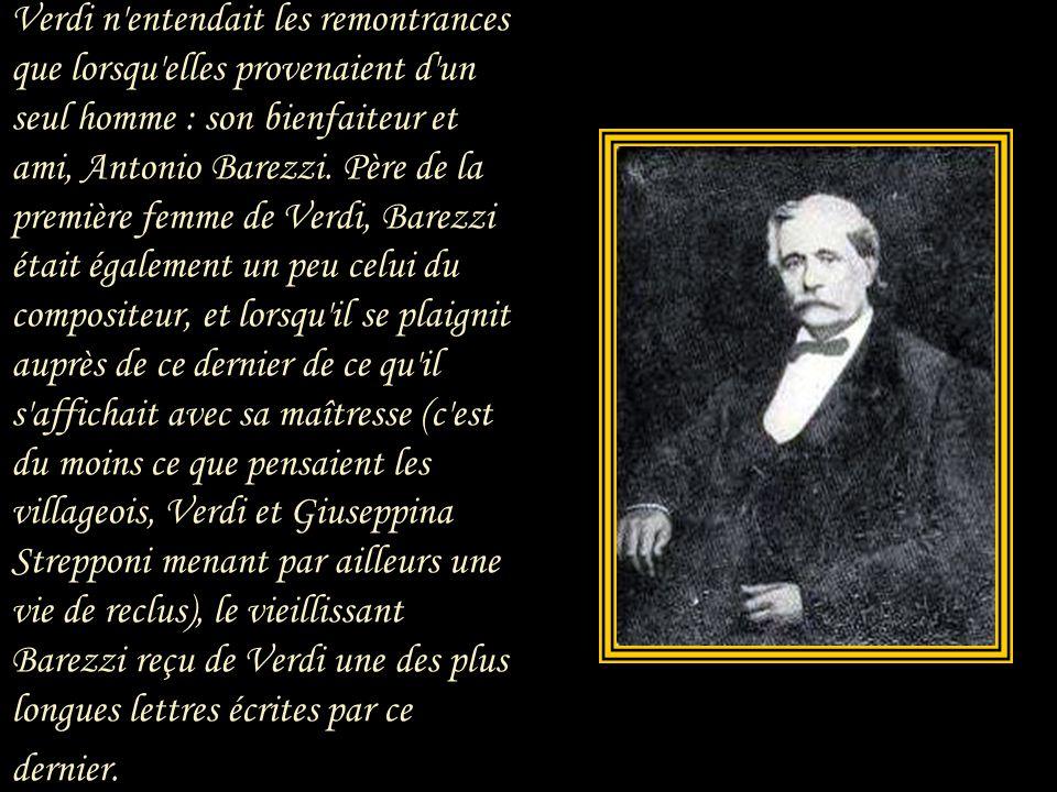 Verdi se trouva soudainement assailli de toutes parts d'innombrables « Germont père », hommes et femmes. Aux murmures et aux critiques exprimées à hau