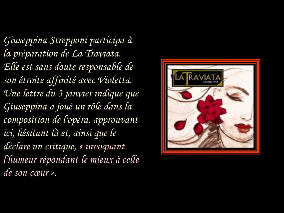 Le monde de La Traviata est le Paris de Giuseppina, en 1847, pas celui de Marguerite. Le salon est un salon d'amis ; Flora son amie est une compagne,