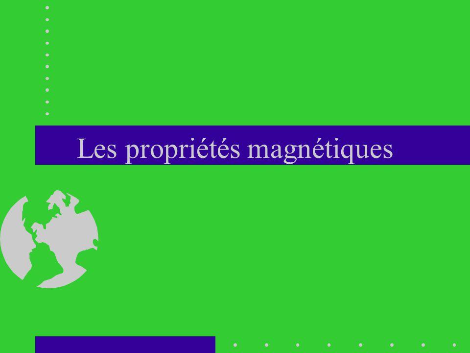 Les propriétés magnétiques