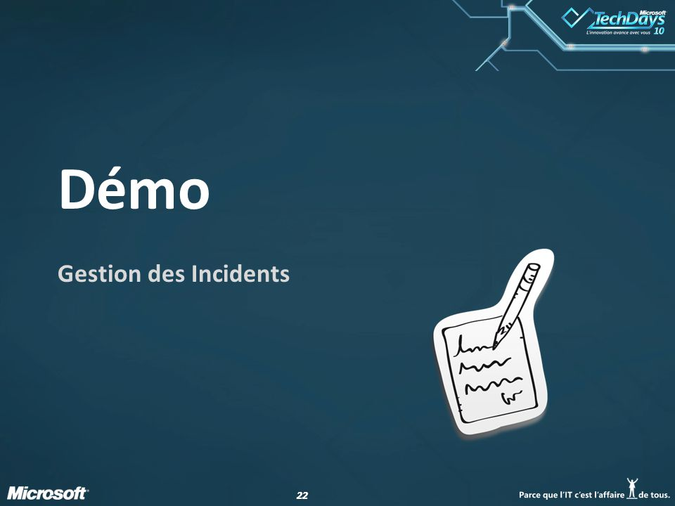 23 Gestion des Incidents Enregistrement incidents Catégorisation incidents Request .