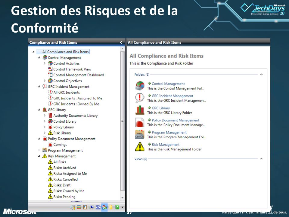 38 Gestion des Actifs Management pack couvrant le cycle de vie des actifs IT et la gestion des actifs logiciels Développement aligné sur Service Manager : CTP 05/2009; Beta 08/2009; RTM H1 CY 2010 http://www.provance.com Provance IT Asset Management Pack for Microsoft System Center Service Manager Provance IT Asset Management Pack for Microsoft System Center Service Manager Pour aller plus loin…