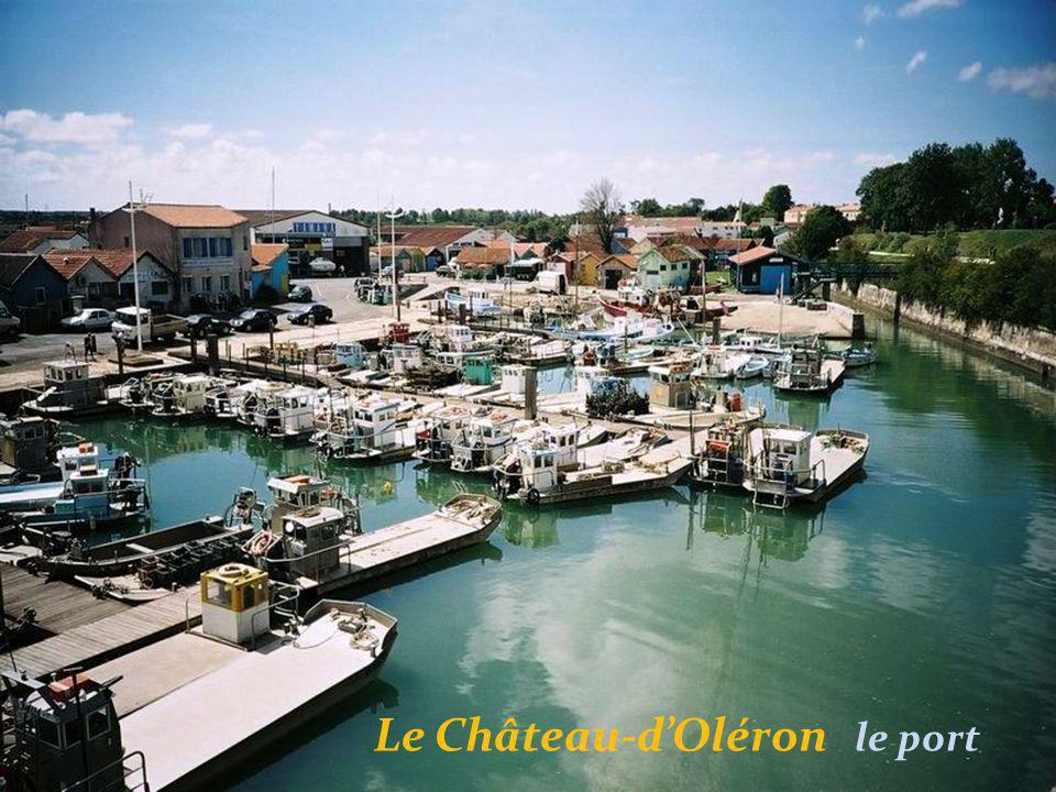 Le Château-d'Oléron bateau d'ostréiculteur à fond. plat appelé : Les Plates
