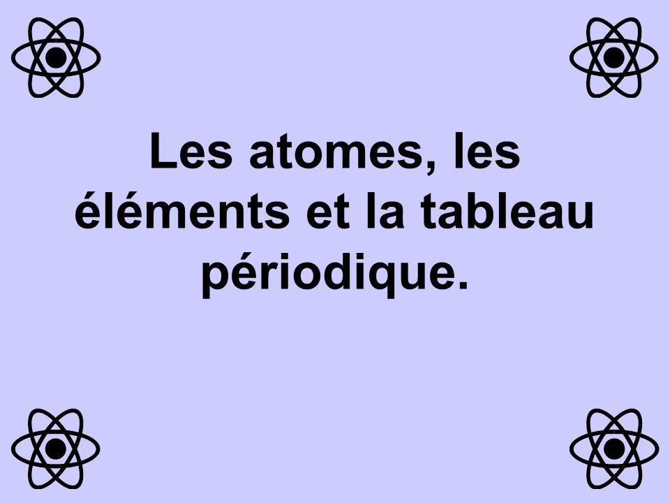 Concepts importants •Le tableau périodique •Loi périodique •Niveau d'énergie •Tendances périodiques •Électrons de valence •Diagramme de Lewis