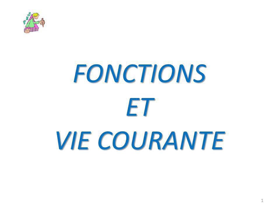 FONCTIONS ET VIE COURANTE 1