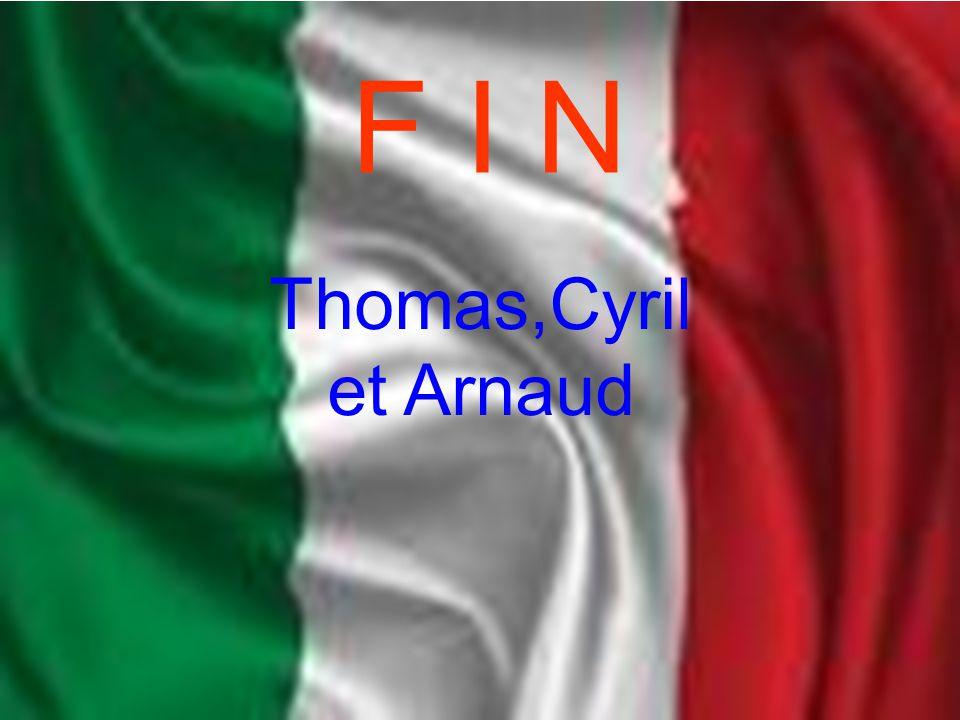 F I N Thomas,Cyril et Arnaud