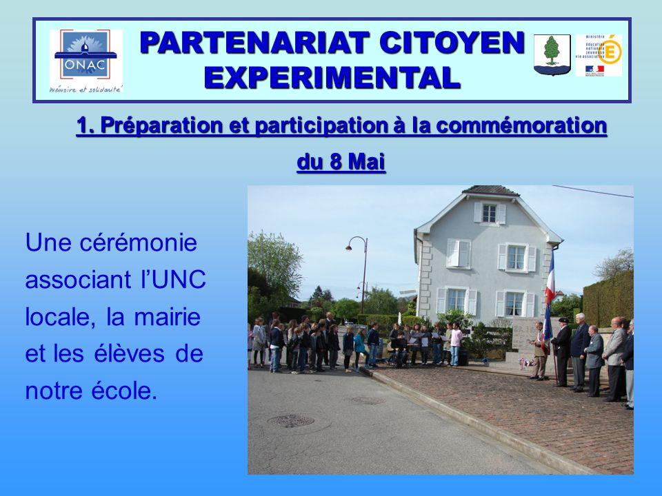 PARTENARIAT CITOYEN EXPERIMENTAL 2.Participation active au témoignage citoyen de M.