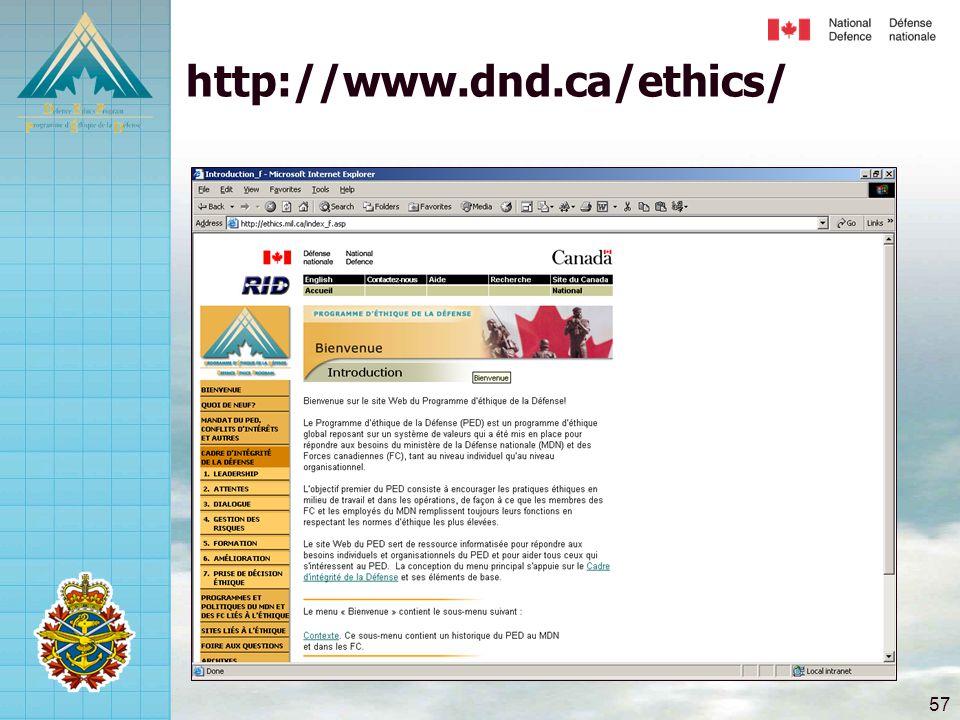 57 http://www.dnd.ca/ethics/
