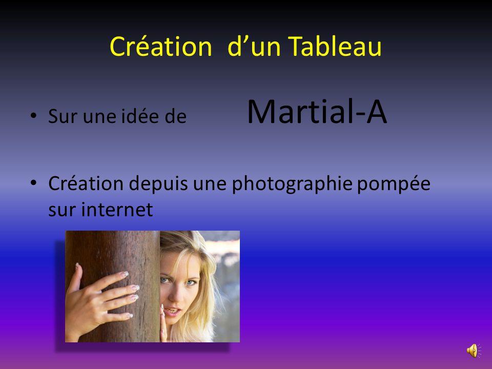 Création d'un Tableau • Sur une idée de Martial-A • Création depuis une photographie pompée sur internet