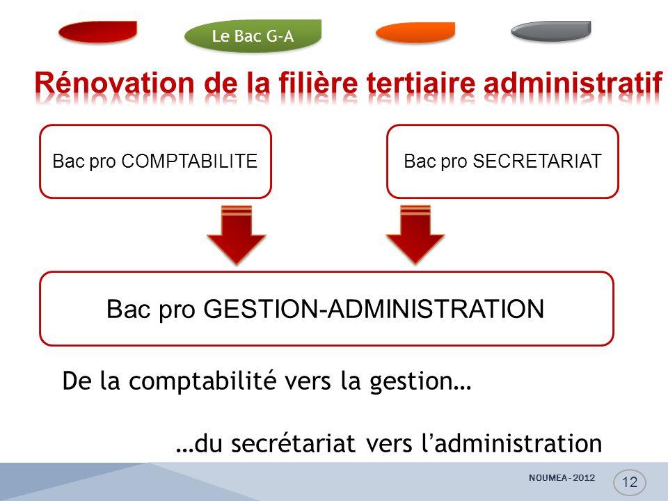 Bac pro COMPTABILITEBac pro SECRETARIAT Bac pro GESTION-ADMINISTRATION De la comptabilité vers la gestion… …du secrétariat vers l'administration D. Va