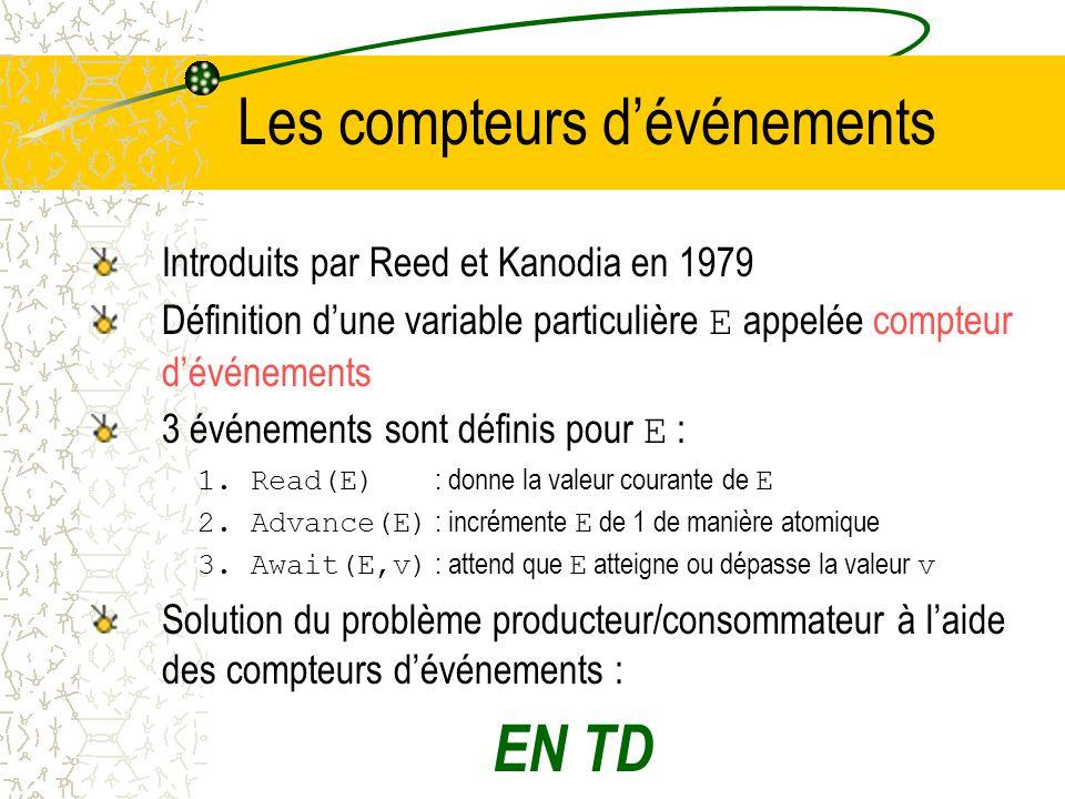 Solution du problème producteur/consommateur au moyen des sémaphores EN TD