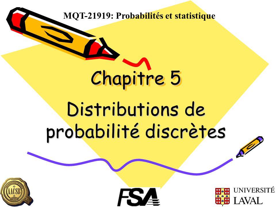 Chapitre 5 Distributions de probabilité discrètes MQT-21919: Probabilités et statistique