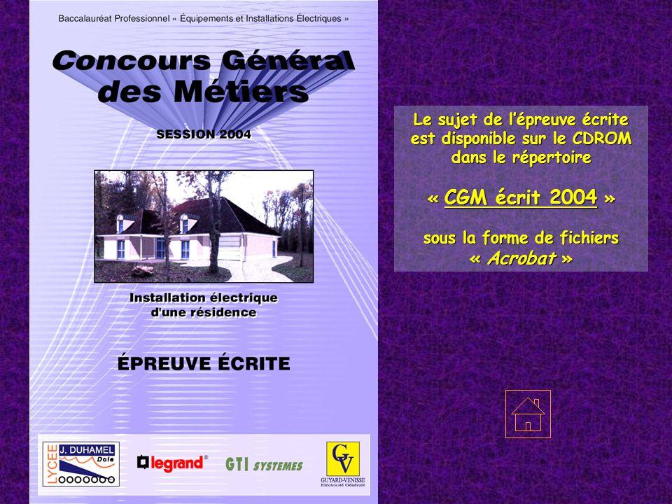 70200 LURE – Haute Saône Le sujet de l'épreuve écrite est disponible sur le CDROM dans le répertoire « CGM écrit 2004 » sous la forme de fichiers « Ac