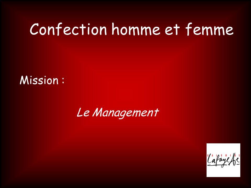 Confection homme et femme Mission : Le Management
