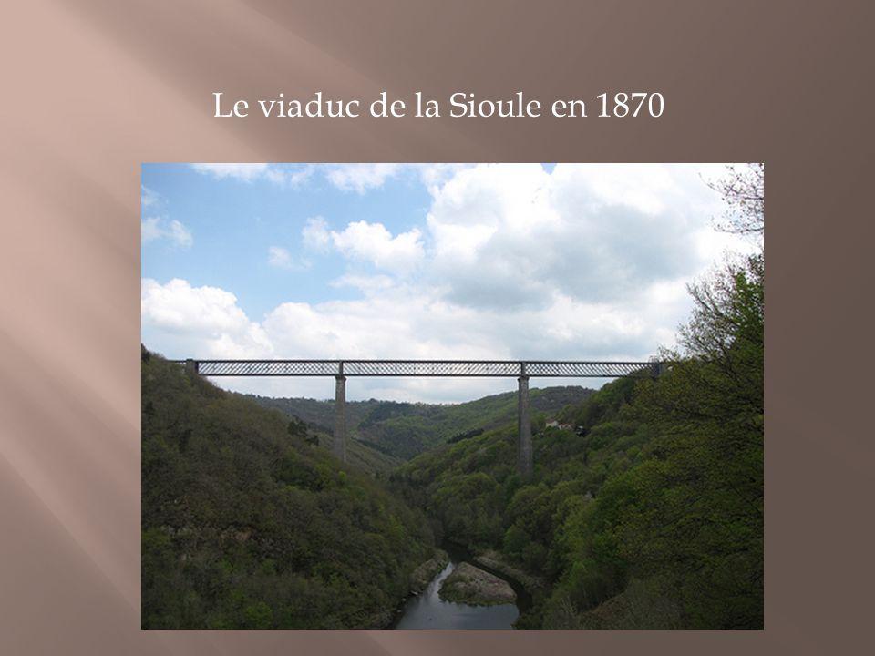Le viaduc de la Sioule en 1870