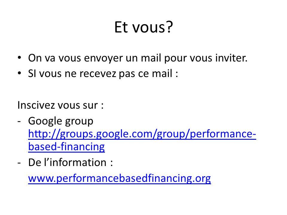 Et vous. • On va vous envoyer un mail pour vous inviter.