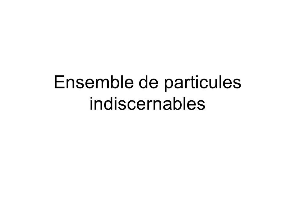 Ensemble de particules indiscernables