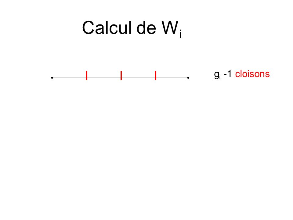 Calcul de W i g i -1 cloisons