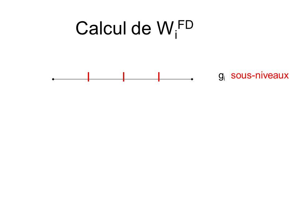 Calcul de W i FD g i sous-niveaux